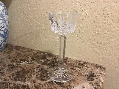 """Waterford Crystal Glass Lismore 11.0"""" Chalice Pillar Candleholder Candle Holder"""