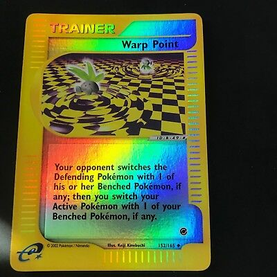 Warp Point Trainer 152//165 Expedition Reverse Holo Pokemon Card Light Play