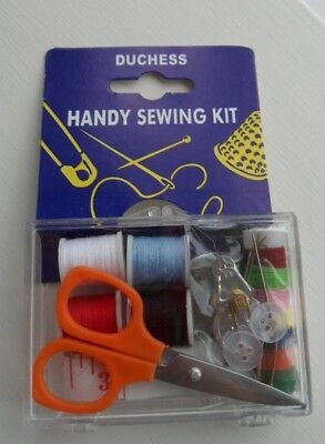 Mini Sewing Kit holidays college camping SCISSORS TAPE MEASURE THREADS NEEDLES