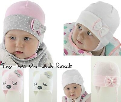 Baby Girls Toddlers Spring Autumn Cotton Elastic Hat Cap Size newborn - 4 years