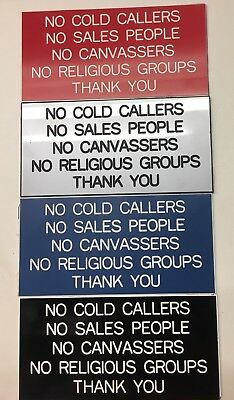 No Cold Callers Engraved