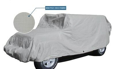"""2007 - 2020 Jeep Wrangler 4 Door Cover, Fits SUV's up to 200"""" L, Grey Poly 200 D"""