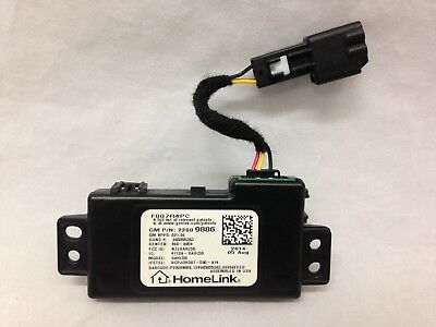 HomeLink garage door opener transmitter assembly module +cable. Console mounted