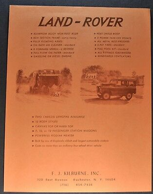1963 Land Rover Sales Brochure Sheet 4x4 Excellent Original 63