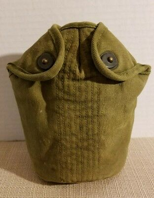 Vintage Wwii U. S. Army Marines 1945 Canteen Pouch Field Gear