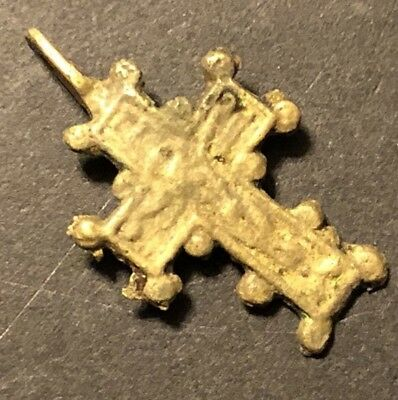 Medieval Copper Cross Pendant Catholic Christian Jesus Russian Ancient Artifact