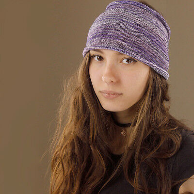 100% Cotton Extra Wide Nepalese Hippy Boho Gypsy Hair Headband Stretchy Purple