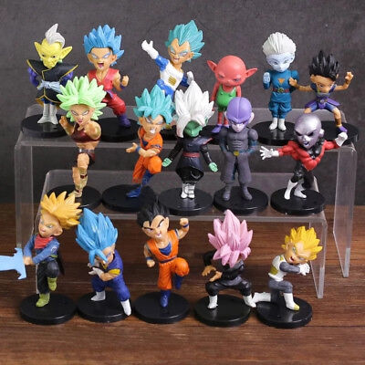 16 PCS Set Dragon Ball Z Super Son Goku Vegeta Action Mini Figures Gift Toy