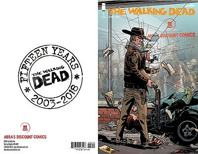 Walking Dead #1 15th Anniversary Abbas Discount Variant 10/10/18