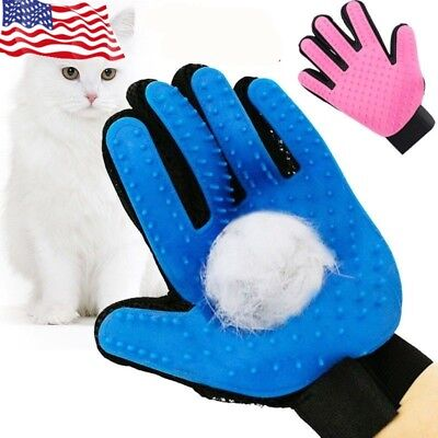 Pet Grooming Gloves Hair Remover Massage Brush Deshedder For Dog Cat Shedding