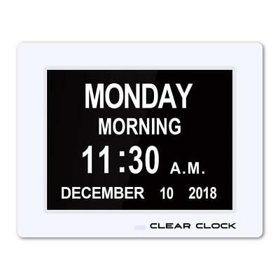 Clear Clock [Newest Version] Extra Large Digital Memory Loss Calendar Day...
