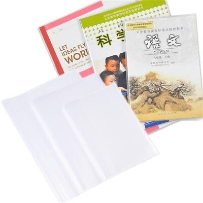 Slip-on Book Covers Pack of 10 (Clear)Protect Against Wear and Tear, Water