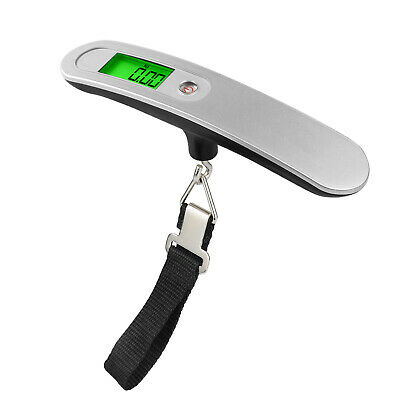 50Kg Portable Luggage Scale Lcd Display 10G Graduation Clip Belt Baggage Trav...