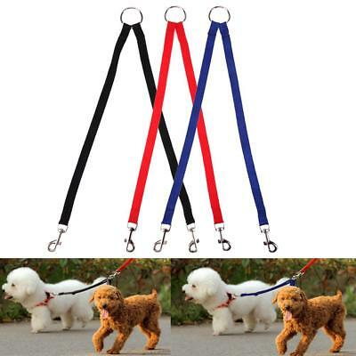 Dual Leash Nylon Double Two Pets Dogs Couple Walking Collars Harnesses Supplies