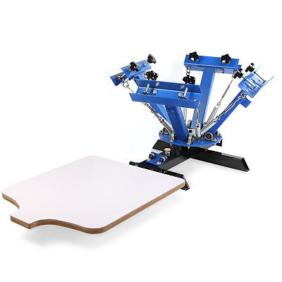 4 Color Silk Screen Printing Machine 1 Station Press Printer DIY Shirt Equipment