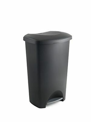 Black Addis Pedal Bin Kitchen Garden Rubbish Paper Waste Bin 50 Litre