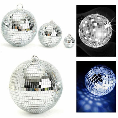 Mirror Glass Ball Disco DJ Stage Lighting Effect for Party Home Decor Xmas CA