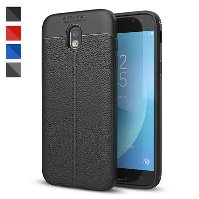 For Samsung Galaxy J3 J5 J7J4  J6 J8 Silicone Rubber TPU Leather Back Cover Case