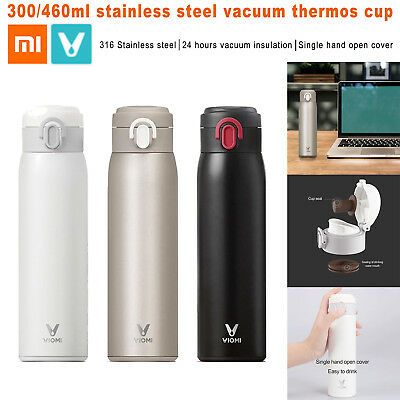 Xiaomi VIOMI 300/460ml Vacuum Insulated Cup Water Bottle Thermos Stainless Steel