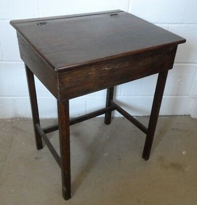 Antique School Desk Oak Children's Desk Writing Slope Vintage