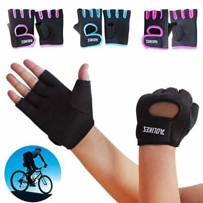 Herren Damen Gewichtheben Training Fitness Workout Sports Half Finger Handschuhe