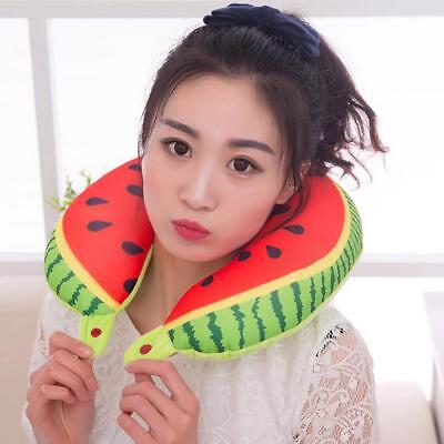 Water Melon Fruit U-Shaped Pillow Cushion Nano Particles Neck Pillows For Travel