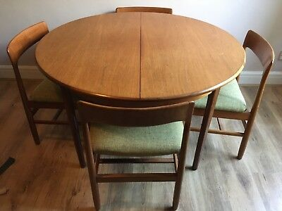 RETRO DINING TABLE And Chairs Teak Vintage Mid Century G Plan - Teak table and 4 chairs
