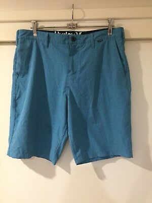 Hurley Mens Blue Boardshorts Size 33 Good Condition