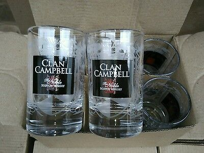 Clan Campbell Campbell's whiskey WHISKY 6 Verres baby 10 cl NEUF