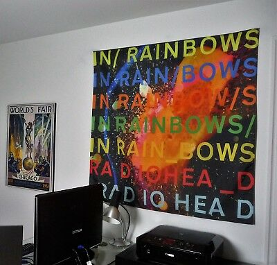 RADIOHEAD In Rainbows HUGE 4x4 BANNER fabric poster tapestry cd album flag