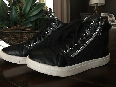 Girls Black Sneakers/ Hip Hop Shoes- Size 2
