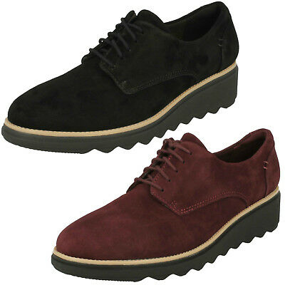 6f65770be6df Ladies Clarks Sharon Noel Nubuck Leather Casual Lace Up Shoes D Fitting