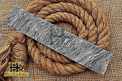 "HUNTEX Forged Damascus 10"" x 2"" Fire Pattern Blank Blade Billet for Knife Making"