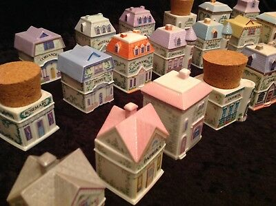 **** Lenox Spice Jar Village, Beautiful Set, Vintage, Collectable *****