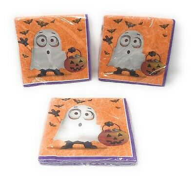 "Despicable Me Minions 2 ply. Halloween Party Napkins 13""x13"" - 16ct. - Lot of 3"