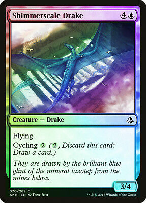Chromescale Drake FOIL Darksteel NM-M Blue Rare MAGIC GATHERING CARD ABUGames