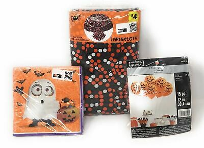 Despicable Me Minions Halloween Party Set - Lot of 3 - Napkins, Balloons & More