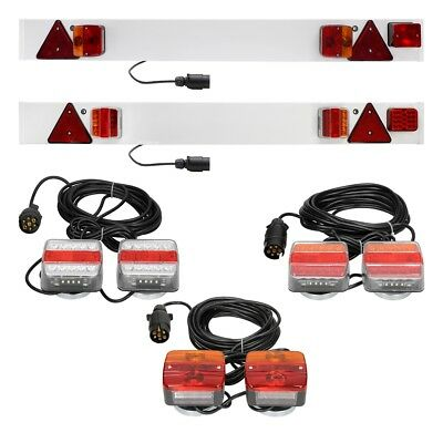 LED trailer towing lightboard lights light board rear taillight board fog lamps