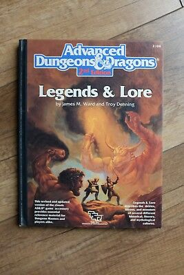 AD&D 2nd Edition Legends & Lore, english