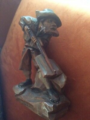 Antique Black Forest  Hand Carved Anri Hunter