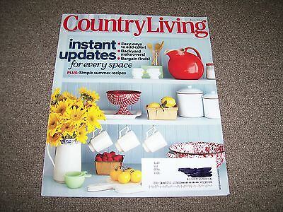 Country Living magazine June 2013 collecting advertising thermometers & antiques