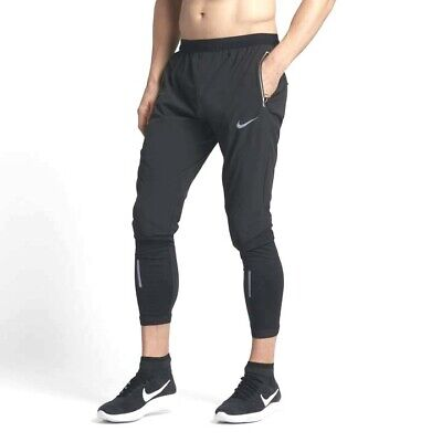 d8aa4288cfd43 NIKE SWIFT MEN'S RUNNING PANTS TIGHTS $120 857840 SM LG XL 2XL Stone Grey  Black