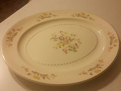 """RARE The PADEN CITY POTTERY Flowers OVAL PLATTER 15 1/2"""" Long x 12 1/2"""" wide"""
