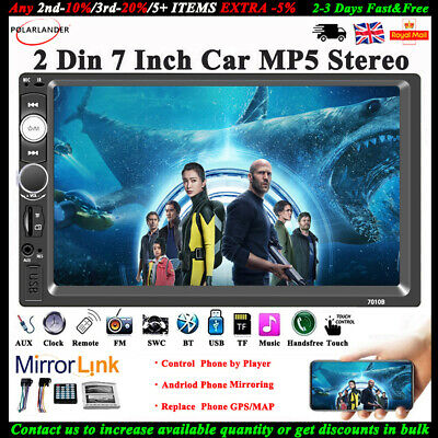 7'' 2DIN CAR Radio Touch Screen MP5 player Stereo Bluetooth FM/AUX