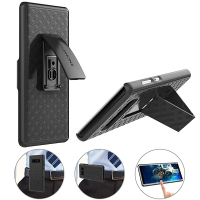 Belt Clip Case Secure Holster & Kickstand Combo Shockproof for Samsung Galaxy