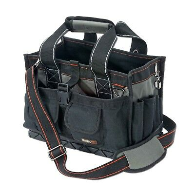 Ergodyne Arsenal Black Leather 7-pocket Tool and Faster Pouch Model 5428