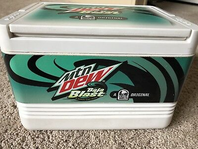 Baja Blast Mountain Dew Baja Or Bust Taco Bell Igloo Ice Cooler Limited Edition