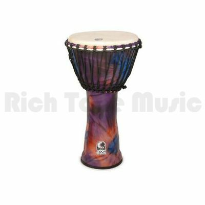 Toca SFDJ-12WP 12 Inch Synergy Freestyle Djembe - Rope Tuned - Woodstock Purple