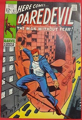 DAREDEVIL 51 MARVEL SILVER AGE 1967 BARRY WINDSOR-SMITH ART vf