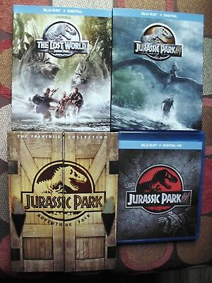 Jurassic Park 3 Movie Bluray And 3 Disc Dvd Collection